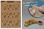 1/35 Combat Ration Large Boxes (9pcs) (Pre-cut Cardboard)