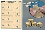 1/35 WWII US Military MRE Large Boxes (6pcs) (Pre-cut Cardboard)