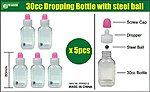 30cc Empty Dropper Bottle w/Steel Ball (5)