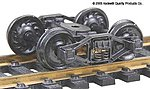 Self-Centering Bettendorf T-Section 33'' Rib Back Wheels -- HO Scale Model Train Truck -- #554