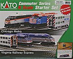 MP36PH Commuter Train Starter Set - Metra -- N Scale Model Train Set -- #1060031
