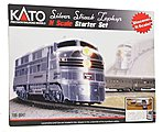 Silver Streak Zephyr Starter Chicago, Burlington & Quincy -- N Scale Model Train Set -- #1060041