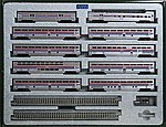 El Capitan 10-Car Passenger Set - Amtrak -- N Scale Model Train Passenger Car -- #106079