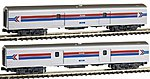 Smoothside Baggage 2-Car Set C Amtrak (Phase I) -- N Scale Model Train -- #1063512