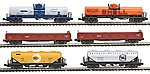 Mixed Freight 6-Car Set - Ready to Run -- N Scale Model Train Freight Car Set -- #1066275