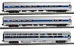 Intercity Express 3-Car Set - Ready to Run - Amtrak -- N Scale Model Train Passenger Car -- #1066286