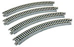 Curved Track R216mm 45 Degree (4) -- N Scale Nickel Silver Model Train Track -- #20170