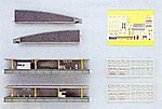 Island Platform - Complete Set -- N Scale Model Railroad Trackside Accessory -- #20806
