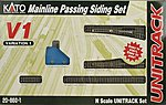Unitrack V1 Mainline Passing Siding Set -- N Scale Nickel Silver Model Train Track -- #208601