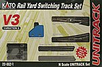 Unitrack V3 Rail Yard Switching Track Set -- N Scale Nickel Silver Model Train Track -- #208621