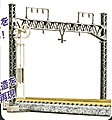 Double Track Catenary Poles Warren Truss (6) -- N Scale Model Railroad Trackside Accessory -- #23063