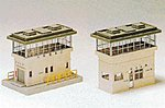 Station Office & Signal Tower Set -- N Scale Model Railroad Building -- #23315