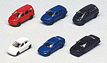 1990s Toyota Automobile Set - pkg(6) -- N Scale Model Railroad Vehicle -- #23505