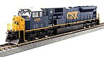 EMD SD80MAC CSX #4599 -- HO Scale Model Train Diesel Locomotive -- #376373