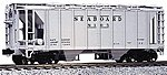 AC&F 70 Ton Covered Hopper (3) Seaboard Air Line -- HO Scale Model Train Freight Car -- #380111