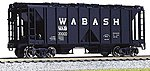 ACF 70 Ton Open Side Covered Hopper (3) Wabash -- HO Scale Model Train Freight Car -- #380205