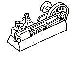 Mill Engine & Boiler -- HO Scale Model Railroad Building Accessory -- #32
