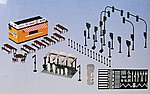 City Street Assortment -- HO Scale Model Railroad Road Accessory -- #38102