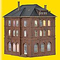 Railway Building with Lights -- HO Scale Model Railroad Building Kit -- #38199