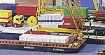 Container Barge/Lighter Kit -- HO Scale Model Railroad Vehicle -- #38522
