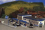 Aral Gas Station -- HO Scale Model Railroad Building Kit -- #8541