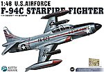 F94C Starfire USAF Fighter -- Plastic Model Airplane Kit -- 1/48 Scale -- #80101