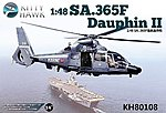 Sa365F Dauphin II Helicopter -- Plastic Model Helicopter Kit -- 1/48 Scale -- #80108