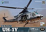 UH1Y Venom Attack Helicopter -- Plastic Model Helicopter Kit -- 1/48 Scale -- #80124