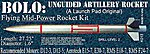 Bolo -- Level 2 Model Rocket Kit -- #13