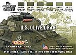 US Olive Drab Camouflage Acrylic Set (6 22ml Bottles)