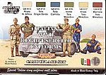 Italian WWII Uniforms Camouflage Acrylic Set (6 22ml Bottles)