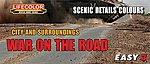 City & Surroundings War on the Road Scenic Detail Colors Acrylic Set (3 22ml Bottles)