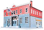 Woodlawn Police Station Kit -- Model Train Building -- HO Scale -- #1382