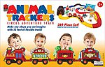 Animal Trackers Circus Adventure Train -- Wooden Train Set -- #9105