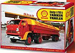 Dodge L700 Tractor with Shell Tanker -- Plastic Model Truck Kit -- 1/25 Scale -- #118