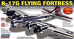 B-17 Flying Fortress Chrome Military Aircraft -- Plastic Model Airplane Kit -- 1/64 Scale -- #70514