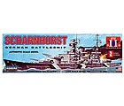 1/762 Scharnhorst German Battleship -- Plastic Model Military Ship -- #70862