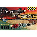 Spitfire/Me109 (2) -- Plastic Model Airplane Kit -- 1/72 Scale -- #hl445-12