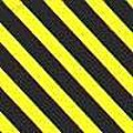 1/8''x120'' Warning Tape Yellow/Black