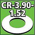 Cent. Ring 1/8 thk. 3.90od - 1.52id inch (2) -- Model Rocket Building Accessory -- #cr390152