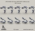 1/35 US Army NVG PVS 14 Monocular Mounts (10)