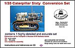 Caterpillar Sixty Conversion Set for TSM #5538 -- Plastic Model Vehicle Accessory -- 1/35 -- #35507