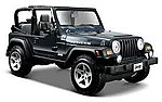 Jeep Wrangler Rubicon (Metallic Blue) -- Diecast Model Car Truck -- 1/27 Scale -- #31245blu