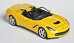 2014 Corvette Stingray Convertible (Yellow) -- Diecast Model Car -- 1/24 scale -- #31501ylw