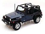 Jeep Wrangler Rubicon (Met. Blue) -- Diecast Model Truck -- 1/18 Scale -- #31663blu