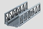 C Track Truss Bridge 7-3/32'' -- HO Scale Model Railroad Bridge -- #74620