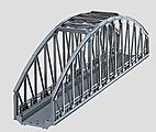 C Track Arched Bridge 14-3/16'' -- HO Scale Model Railroad Bridge -- #74636