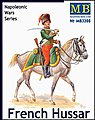 Napoleonic War French Hussar -- Plastic Model Military Figure Kit -- 1/32 Scale -- #3208