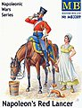 Napoleon's Red Lancer Mounted on Horse and Maiden -- Plastic Model Military Figure -- 1/32 -- #3209
