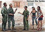 1/35 Somewhere in Saigon US Soldiers (3) & Prostitutes (2) Vietnam War (New Tool)